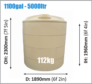 5000ltr Poly Tank Sale Narangba Caboolture Area Preview