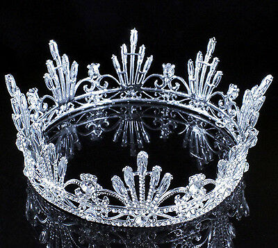 Firework Queen Clear Austrain Crystal Rhinestone Tiara Crown Pageant Bridal C808