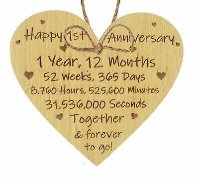 1st 2nd 5th 10th 20th 25th 50th Wedding Anniversary Husband Wife Mr & Mrs Gift