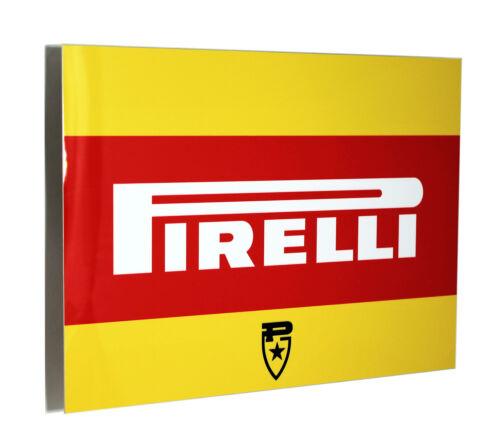 Pirelli Vintage Tire Cart Metal Sign