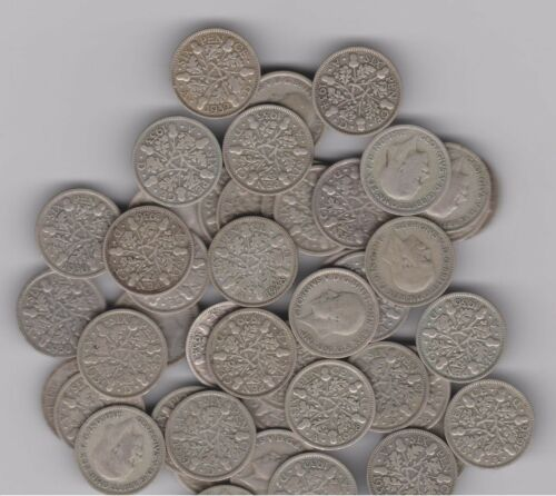 Lucky Wedding Sixpence - King George, England (UK) .500 Silver 1928 through 1936
