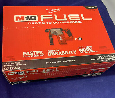 Milwaukee M18 Fuel 18v Brushless Cordless 1 Sds-plus Rotary Hammer 2712-20