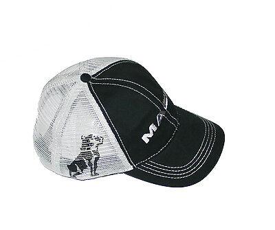 Mack Trucks Black & Grey Bulldog Snapback Mesh Cap/Hat - Mack Truck Hats