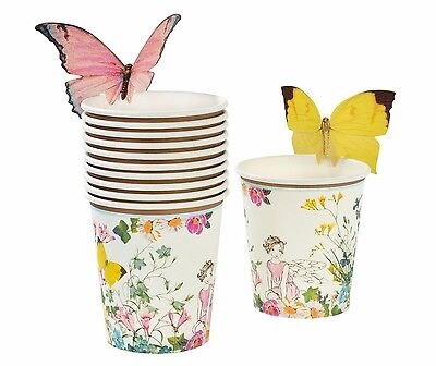 Fairy Theme Party Paper Cups x 12 - Perfect Cups for Girls Fairy Themed Party - Party Theme For Girls