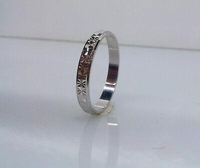 FEDINA Diamantata in Oro BIANCO 750 18 Kt. Fedine Fedi Anello Anelli Uomo Donna.