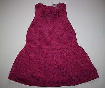 Gymboree Mädchen 2t (Neu Gymboree Mädchen Holiday Edelsteine Leinen Kleid 2T Nwt Fuchsie Gepunktet)