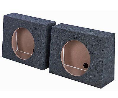 """(2) Q-POWER QTW10 Single 10"""" Sealed Car Audio Subwoofer Sub Box Enclosures Pair"""
