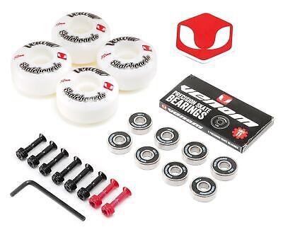 Venom Skateboard Wheels, ABEC 11 Bearings + FREE Bolts/Hardware Gift Pack