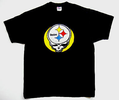 Grateful Dead Shirt T Shirt Vintage 1988 Pittsburgh Steelers Football NFL PA XL
