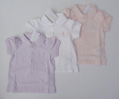 Nwt Ralph Lauren Kleinkind Mädchen Ss Weiche Baumwolle Interlock Poloshirt Sz 9m (Polo Ralph Lauren Kleinkind Mädchen)