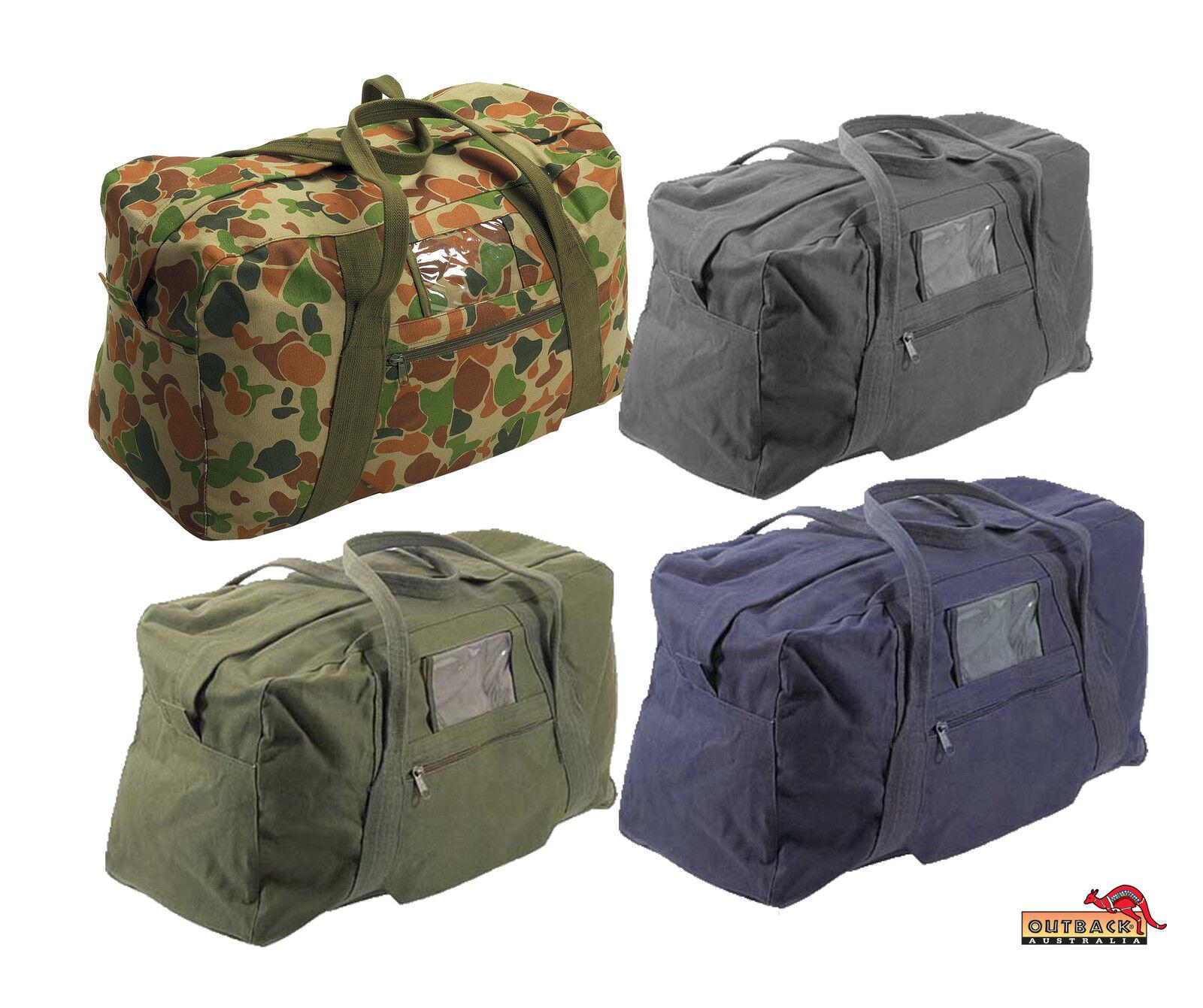 4dbf49c474 Details about Super Heavy Duty Canvas Army Echelon Bag 26