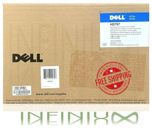 Genuine New Dell HD767 Black Toner Cartridge for 5210n/5310n Dell Laser Printers