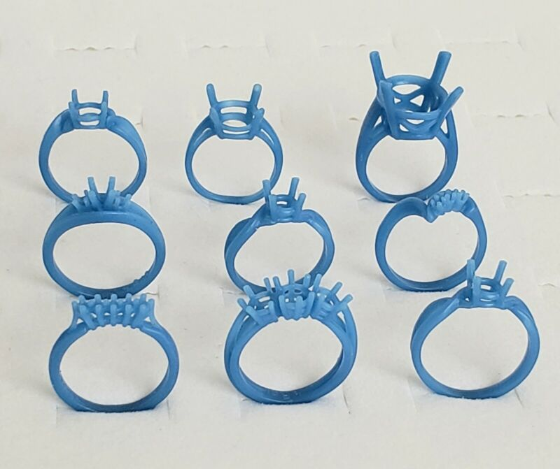 9 Pronged wax Rings. Wax Patterns for lost wax casting 21-137