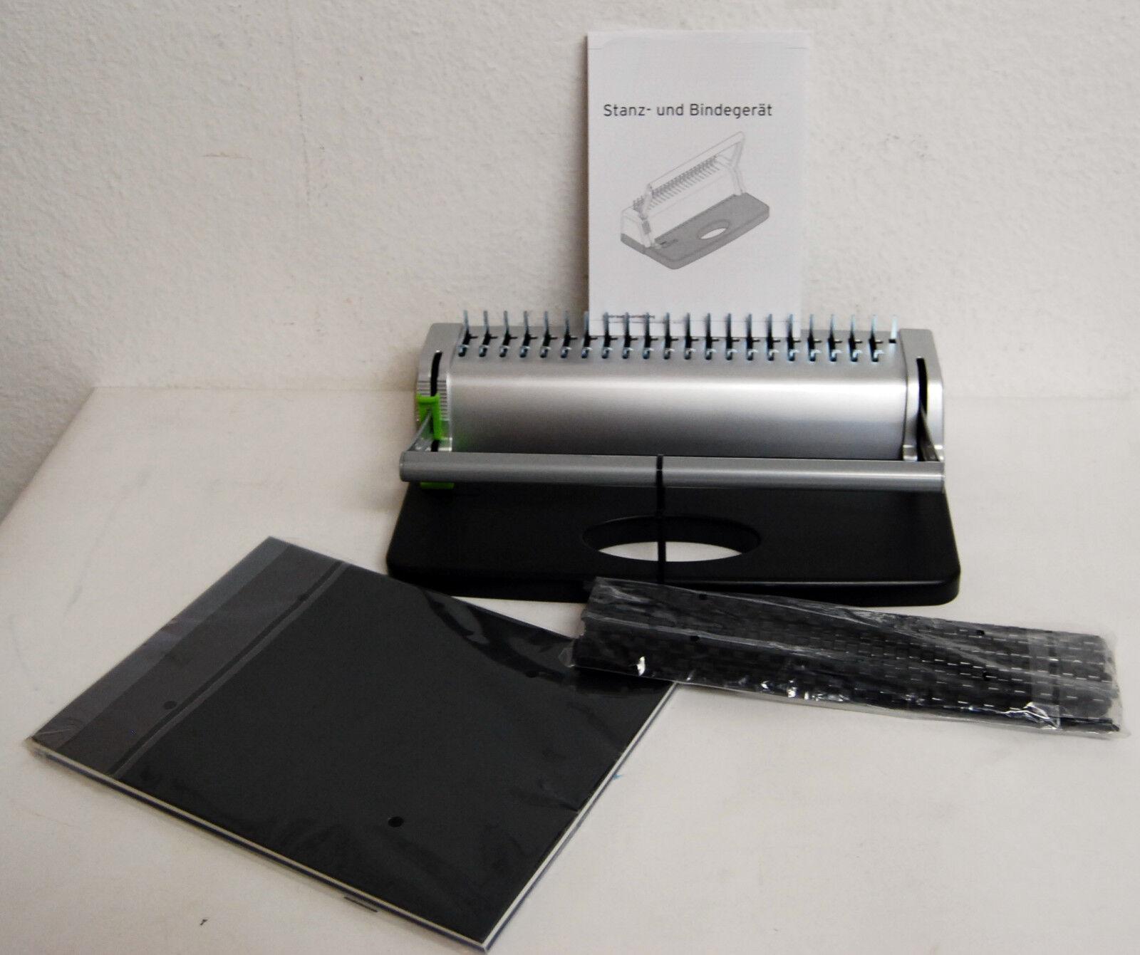 Stanz und Bindegerät bis 145 Blatt, inkl. 40 teiligem Starterset NEU / OVP