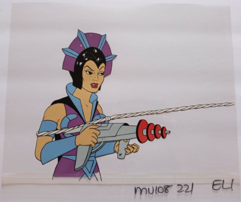 He-Man MOTU - Production Cel - Evil-Lyn with Gun - 83-85