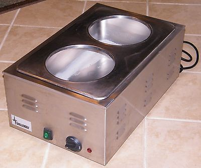 Challenger 2 Bowl Commercial Stainless Soup Warmer Model - Efw 120v 10a