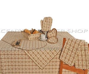 Accessori cucina tavola country beige centrotavola strofinacci tovaglietta acrbg ebay - Accessori per cucina country ...