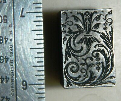 Letterpress Printing Printer Block Press Wood Metal Type Solid Lead Ornament