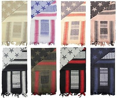Mato & Hash Stars and Stripes Military Shemagh Tactical 100% Cotton Scarf