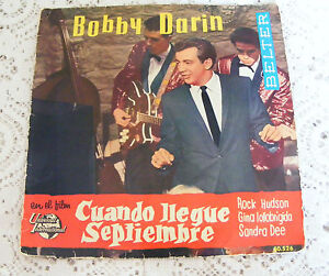 Bobby-Darin-Come-September-EP-1962-Spain-Import-7-Vinyl-Single-Record