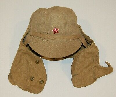 Cap Afghanistan War Khaki Soldier Hat Star Soviet Army Field Military Uniform  - Khaki Field Uniform