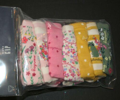 New Gap Girls 7 Pack Panties Bikinis Underwear 2 3 Year Floral Star Days of Week