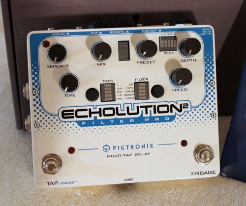 Pigtronix Echolution 2 Filter Pro Delay New in Box Guitar Pedal NIB