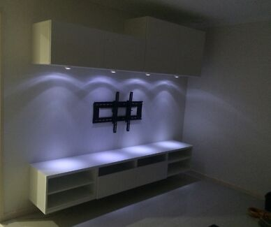 Classy new Wall mount entertainment units Supply delivered & installed Cecil Hills Liverpool Area Preview