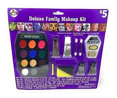 Halloween Makeup Kits (Halloween Family Deluxe MAKEUP KIT - COSPLAY COSTUME - Witch -)
