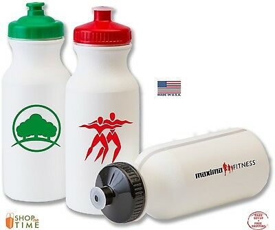 eca87e77dd Promotional 20 oz. Bike Sports Water Bottle Printed W/ School Name /Logo  100 QTY