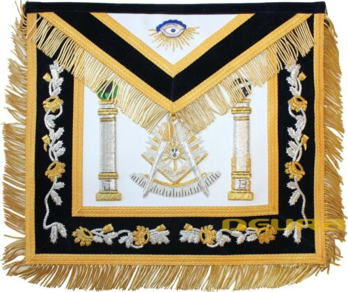 GOLDEN Hand MADE Bullion Past Master Embroidered Aprons Apron BEST QUALITY