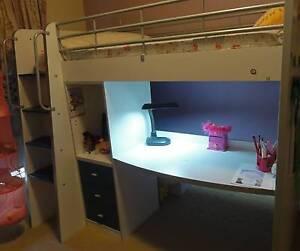 Kids Loft Bed w Desk Gordon Moorabool Area Preview