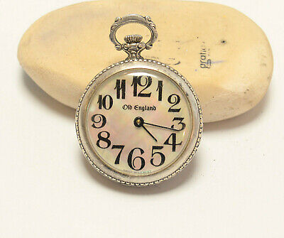 OLD ENGLAND ANTIQUE LADIES POCKET WATCH SWISS MOVEMENT