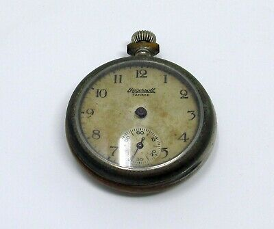 Vintage Ingersoll Yankee Pocket Watch Missing Hands Not Working As is for Parts