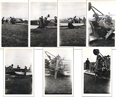 1940s Aeronca Champ/Chief Airplane FlipOver Accident Wreck NC36509 Damage Photos