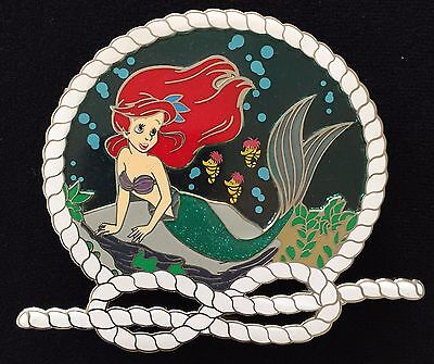 ARIEL THE LITTLE MERMAID STAINED GLASS NON DISNEY PRINCESS AHOY FANTASY PIN LE50
