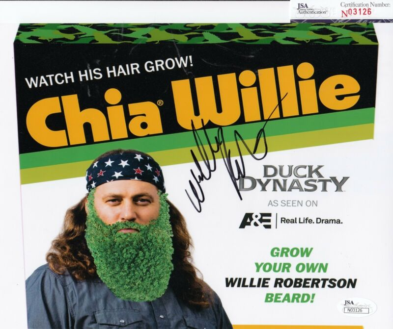 Willie Robertson autographed Duck Dynasty 8x10 Photo JSA Authentic Coa N03126