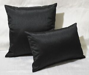 Solid Black Throw Pillows eBay