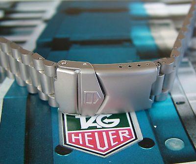 OEM NOS/NEW TAG HeUeR FORMULA 1 FIA F1~18mm SandBlaSteD SS BRACELET~EaRLy CHRONO
