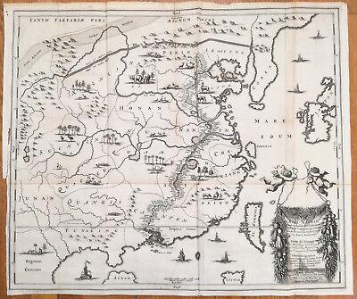 Nieuhof Legatio Batavica Huge Map of China Reys Kaerte - 1668