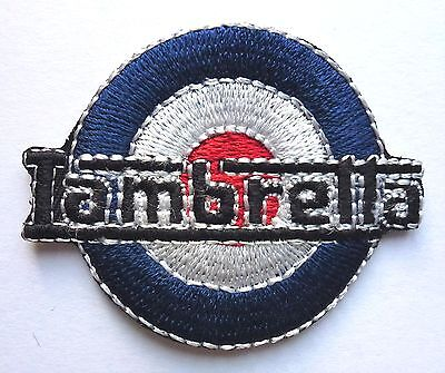LAMBRETTA TARGET MOD SCOOTER SEW OR IRON ON BIKER MOTORCYCLE PATCH 60mm x 47mm