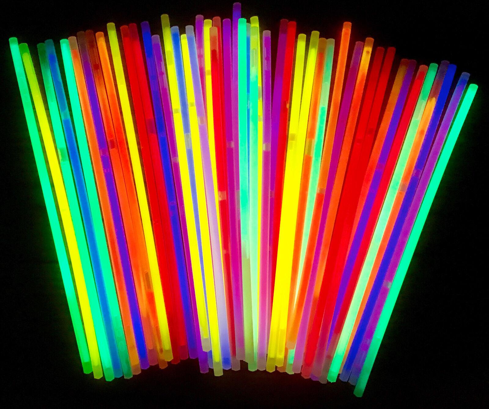 50x Knicklichter | Leuchtstäbe | Armreifen | Glowstick | Party | Deko | Lichter