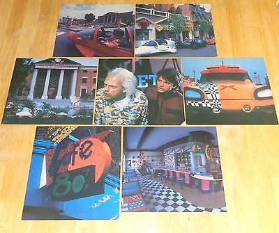 1989 BACK TO THE FUTURE Movie Scene Window Sticker Decal Poster Set PIZZA HUT