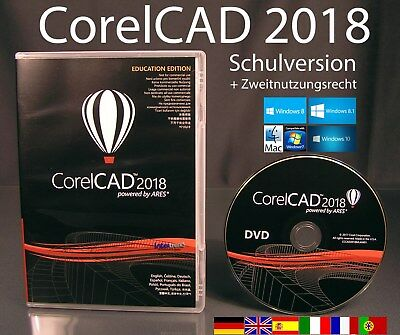 CorelCAD 2018 Vollversion Box + CD 2D/3D Cad-Software Schulversion OVP NEU