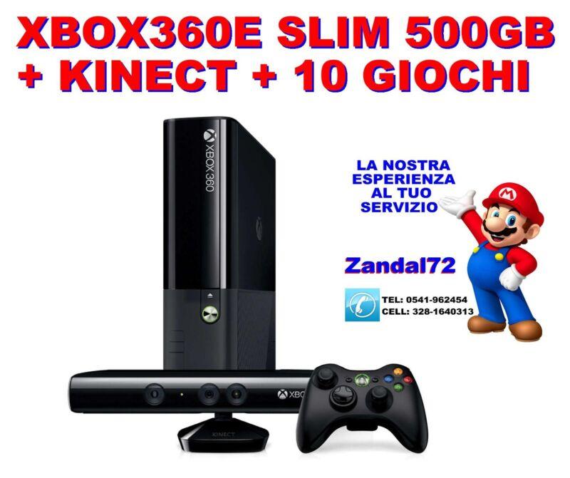 MICROSOFT+XBOX360+E+500GB+SPECIALE+%2B+KINECT+READY+%2B+10+GIOCHI+GARANZIA+24+MESI
