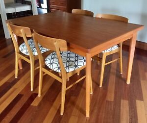 Danish Teak table with 5 matching chairs