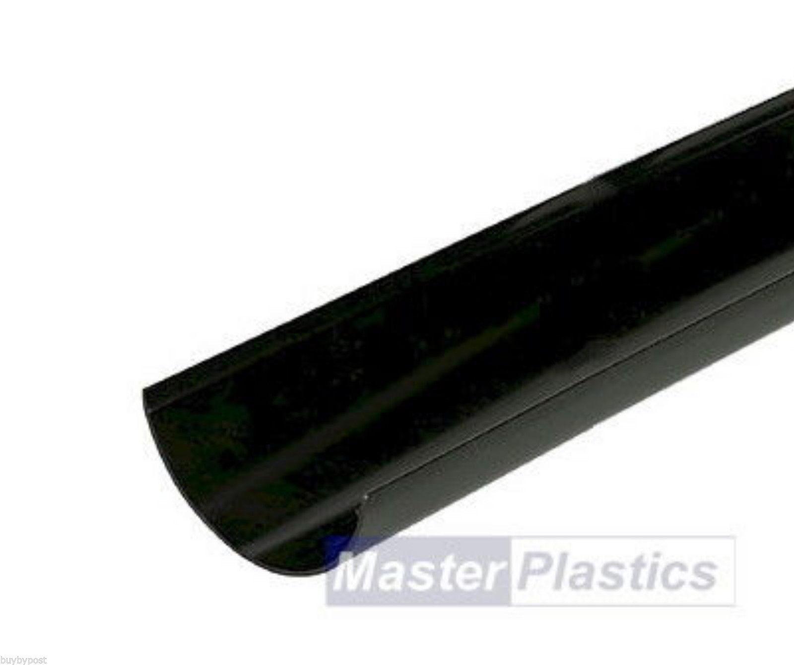 New Upvc Plastic Black Half Round Gutter And Guttering