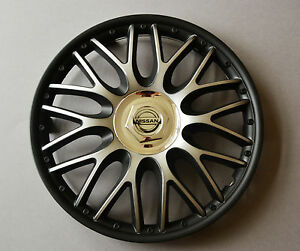 15 nissan almera micra note wheel trims covers hub caps black silver ebay. Black Bedroom Furniture Sets. Home Design Ideas