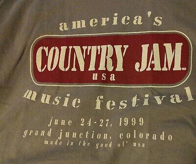 Country Jam Music Festival June 24-27 1999 Grand Junction Colorado Mens Shirt XL