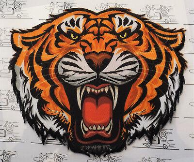 Tigerkopf XL medium Aufnäher Aufbügler Applikation Motiv Patch Stickerei Embroid